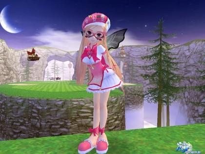 ピンク色の魔法天使衣装